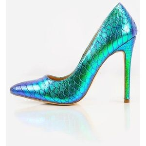 Liliana Gisele-1 Hologram Mermaid Pumps - 10